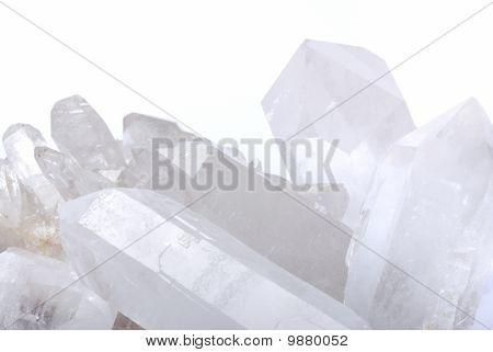 Quartz Crystals On White
