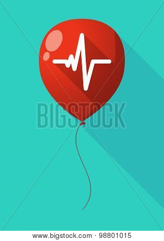 Long Shadow Balloon With A Heart Beat Sign