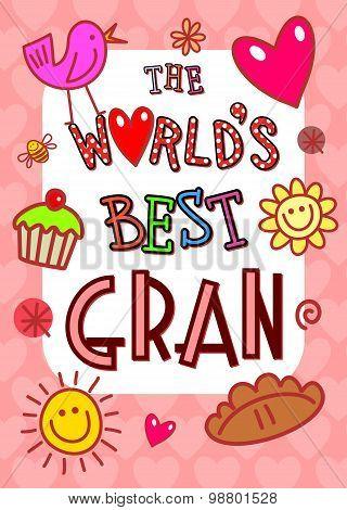 Worlds Best Gran Card