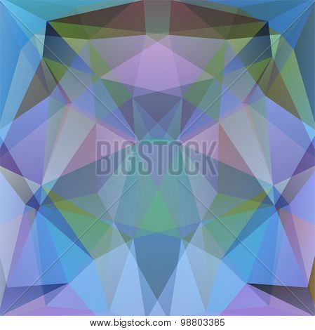 Abstract Background Consisting Of Triangles. Blue, Violet Colors
