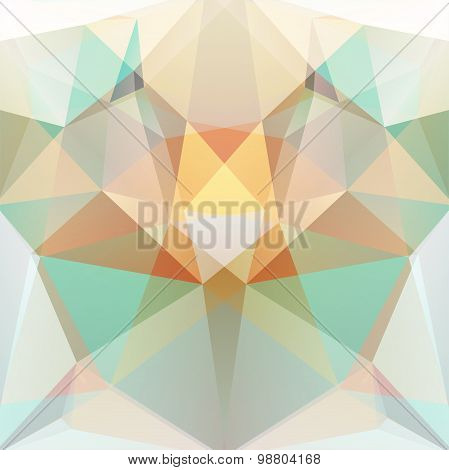Abstract Background Consisting Of Yellow, Beige, Green Triangles