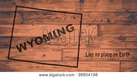 Wyoming Map Brand