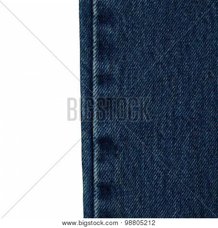 Blue Jeans Cloth Isolated On White