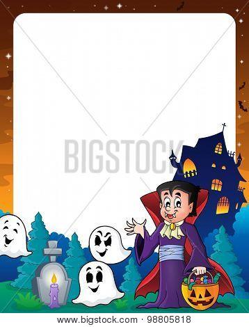 Halloween theme frame 7 - eps10 vector illustration.
