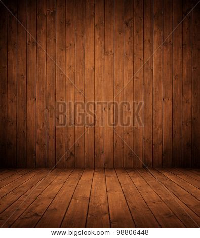 elegant brown wooden interior room.