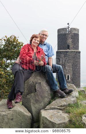 Happy Active Senior Couple On The Trip