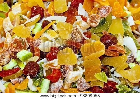 Exotic dried fruit mix on Spice bazaar, Istanbul