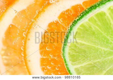 Orange And Lime Fruit Background