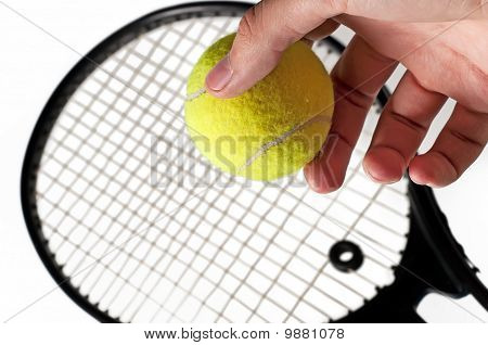 Ball And Tennis Racket
