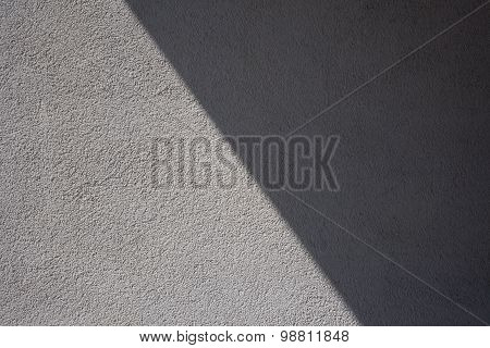 Outside Wall, Gray Plaster, Shadow