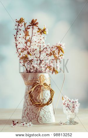 Spring blossom with vintage tone