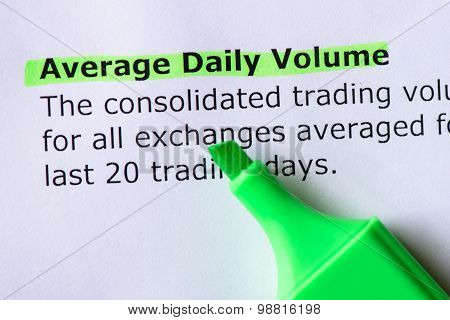 Average Daily Volume