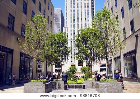 Channel Gardens, Rockefeller Center