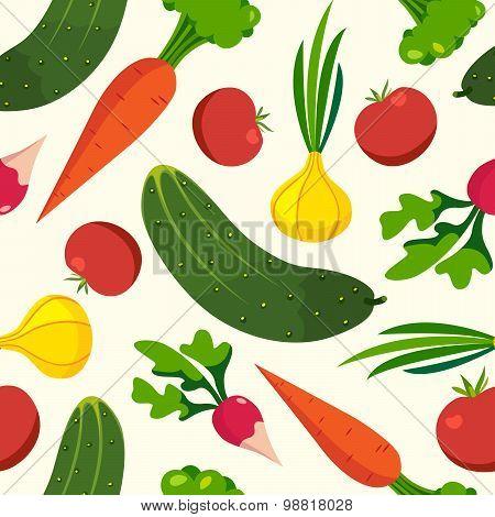 Vegetables pattern background of healthy food