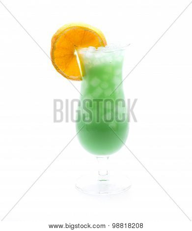 Slice Orange Cocktail Green
