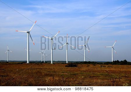 Wind Turbines In Bulgaria