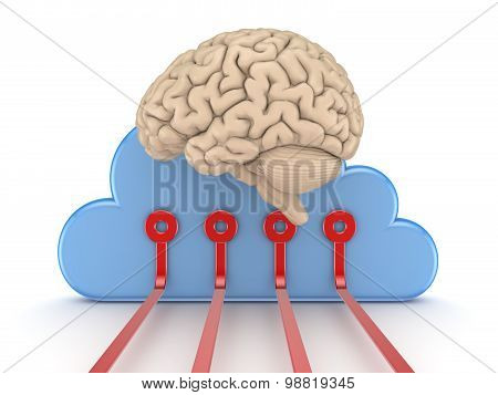 Symbol of cloud computing.
