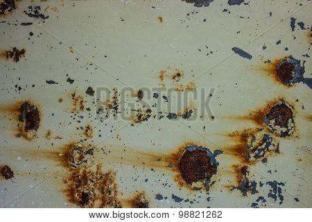 Old  metal  background with rusty spots