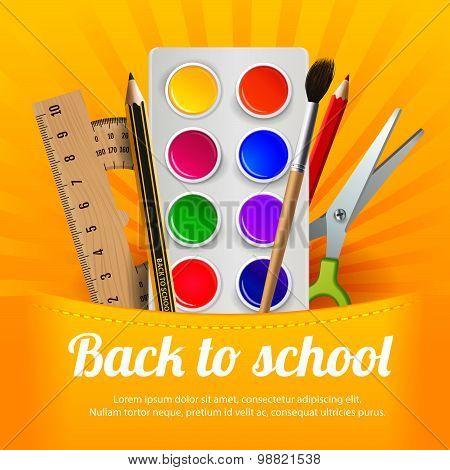 Back to school, sale, vector illustration.