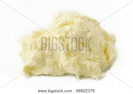 Cream Cheese On White Background