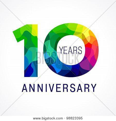 10 anniversary color logo