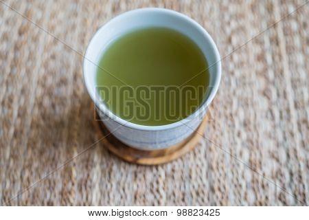 A Cup Of Hot Green Tea