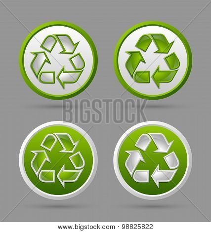 Recycle Symbol Badges
