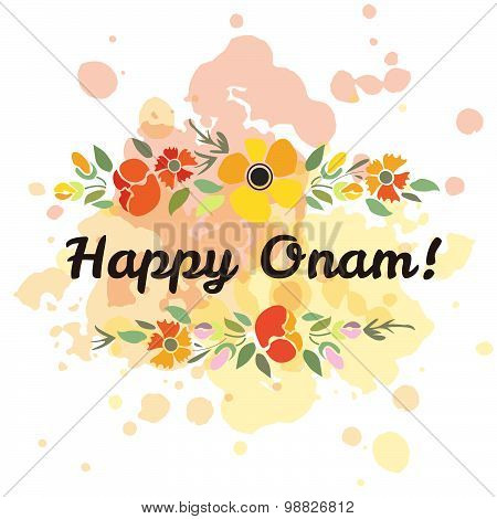 Vector Illustration Of Card Deducted To Onam.