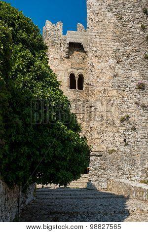 Castello Di Venere In Erice. Sicily, Italy.