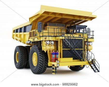 Large industrial mining dump truck on