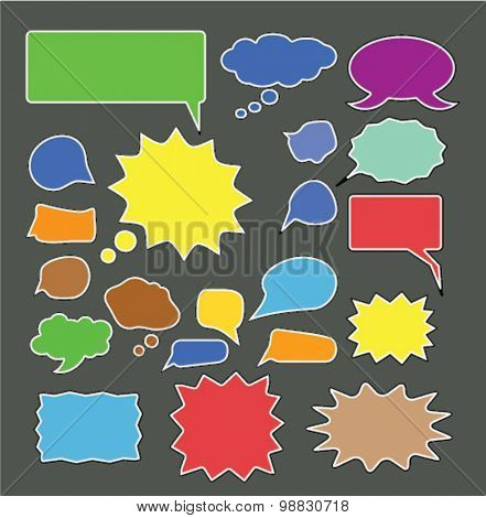 bubbles, speech, chat icons