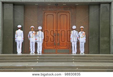 guards are standing at one's post