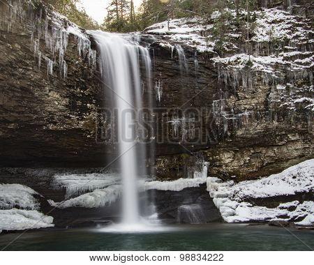 Icy Waterfall at Cloudland Canyon