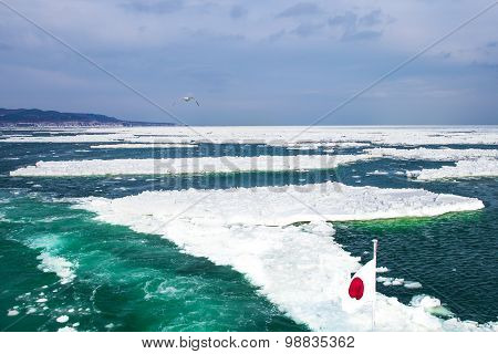 Ice in Japan, Sea of Okhotsk.