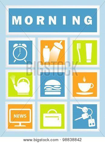 Set 9 Morning Icons