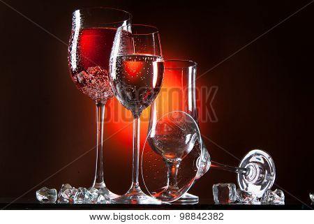 Glass And Liquid