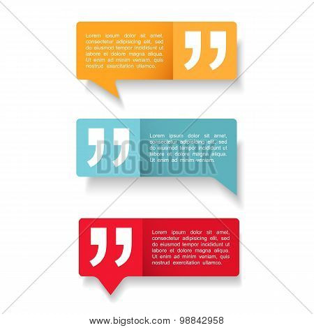 Speech Bubbles With Quotes