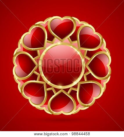Rosette Made Of Hearts