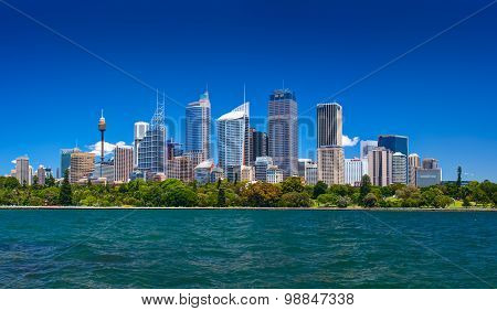 Panoramic view of Sydney central business district