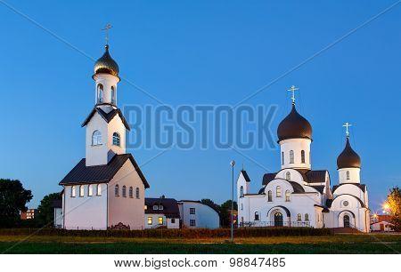 Pokrov-Nikolskaya orthodox church in Klaipeda Lithuania.