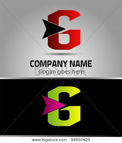 Letter G logo vector alphabet shape. G concept type as logo