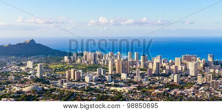 Hawaii city skyline