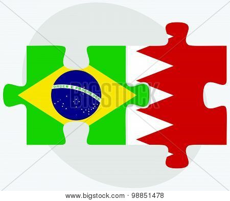 Brazil And Bahrain Flags