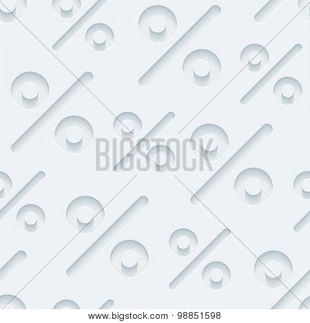Light gray percent symbols wallpaper. 3d seamless background. Vector EPS10.