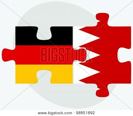 Germany And Bahrain Flags