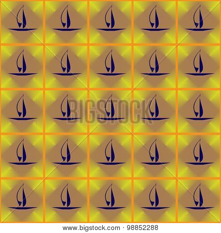 Sailing Boat In A Square