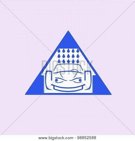 Car wash emblem