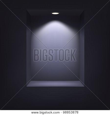 Dark niche for presentations.