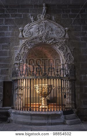 Baptismal Chapel Of The Cathedral Of Avila, Spain