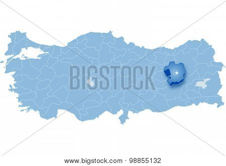 Map Of Turkey, Bingol